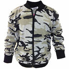 LADIES GIRLS CAMOUFLAGE JACKET MOTHER DAUGHTER CAMO ZIP UP COAT ARMY JACKETS NEW