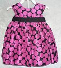 Marmellata infant Girls Dress 2 pc set Dot Printed Polyester size 6-9M, 12M NEW