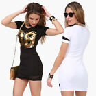 UK Selling Popular Women Summer Casual Short Sleeve Sexy 98 Printing Gauze Dress