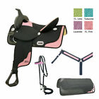 14 Inch Abetta Western Saddle - Ostrich Saddle Package - 3 Color Options