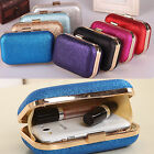 Fashion Ladies Women Clutch Box Evening Party Glitter Chain Hand Bags Wallet Box