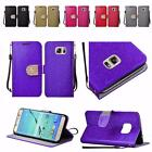 For Samsung Galaxy S7 Edge G935 Shiny Premium PU Leather Bling Wallet Cover Case