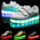 Boys Girls LED Lights Up Ankle Boots Trainers 7 Color Change Shoes USB Charger U