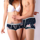 Disney Underpants Underwear Women Brief Couple Brief Boxer Mickey Dark Blue U-52