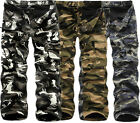 Men's Casual Cotton Fleece Lined Military Army Cargo Camo Work Trousers Pant New