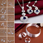 Jewelry Set 925 Sterling Necklace Silver Elegant Hight Quanlity Earring Wedding