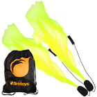UV Yellow (Green) Pyropixies Beginner Spiral Poi & Firetoys Tote Bag!