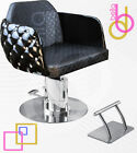 D-Cute Beauty Salon & Spa Hair Dresser Styling Chair w/ Studded Exterior