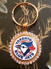 RHINESTONE KEYRING/  PENDANT W/ MLB TORONTO BLUE JAYS SETTING JEWELRY on Ebay