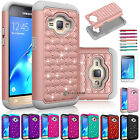 Luxury Bling Crystal Hybrid Rubber Case for Samsung Galaxy J1 J120A(2016)/ Amp 2