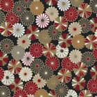 QUILTING FABRIC - JAPANESE  - ABIKO Black -  sold by XL FQ or 1/4 Metre