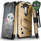 LG Stylo 2 LS775 Case Cover Tempered Glass Kickstand Holster Armor FLAGSHIP