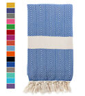 "Swan Comfort Natural Turkish Towel Peshtemal Towel 100% Natural Cotton 70"" x 39"""