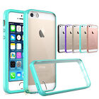 For iphone 5S SE 5 Hybrid Slim Crystal Clear Back Hard TPU Bumper Case Cover
