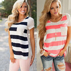Fashion Womens Summer Tops Loose Tee Short Sleeve T shirt Casual Blouse Tee