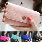 Womens Ladies Envelope Leather Wallet Button Clutch Purse Brand Long Handbag Bag
