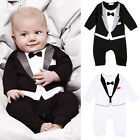 Newborn Kids Baby Infant Boys Outfits Jumpsuit Romper Bodysuit Gentleman Clothes