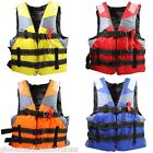 Adult Aid Life Jacket Vest Boating Flotation Foam Swimming Skiing Rescue+Whistle