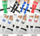 Lady Women Stripe Over Knee High Socks Football Sport Referee Fancy Cotton Dress