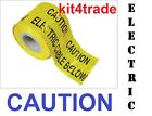 CAUTION ELECTRIC CABLE BELOW Underground buried cable warning tape cut lengths