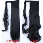 Clip In Hair Extensions Deluxe Thick Ponytail Wrap Around Pony Tail Black Blonde