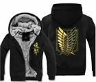 Attack On Titan Survey Legion Thicken warm COS Coat Jacket Hooded Hoodie
