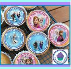 24 X FROZEN 4TH BIRTHDAY EDIBLE CUPCAKE TOPPERS  WAFER PAPER OR ICING