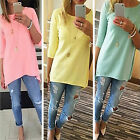 CHIC New Fashion Women Ladies Long Sleeve Casual Loose Shirt Tops Blouse T-Shirt