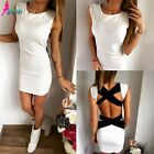 Fashion Women Bandage Bodycon Backless Evening Sexy Party Cocktail Mini Dress