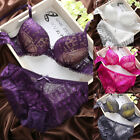 Sexy Women Embroidery Lace Lingerie Underwear Push-Up Padded Bra Set Brassiere