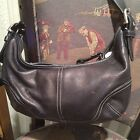 Med Leath Black Coach(9464) Sig Lining Purse Satch Tote Bag Priority Shipping👜