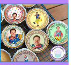 24 X MR TUMBLE 3RD BIRTHDAY EDIBLE CUPCAKE TOPPERS WAFER PAPER ICING & PRE-CUT
