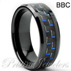 Tungsten Carbide Ring Comfort Fit Wedding Band Men Silver Gold Black Camo Celtic
