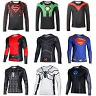Men Long Sleeve Compression T-shirt Marvel DC Comic Superman Cosplay Top S-XXXXL for sale  China