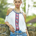 CHIC New Fashion Women Chiffon Tops Tank Short Sleeve T-Shirt Casual Blouse Vest