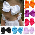 CHIC 1pc Big Hair Bows Boutique Girls Baby Kids Alligator Clip Grosgrain Ribbon