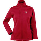 Antigua Women's New Jersey Devils Traverse Fleece Back Full-Zip Jacket