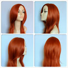 HIGH HEAT RESISTANT FIBRE SENSUOUS WAVY LONG LADY WIG SKIN TOP PARTING T-007