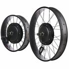 "48V Front Fat Tire Electric Bike eBike Conversion Kit 20""/4"" 26""/4"" Width Rim"
