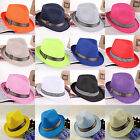 CHIC Mens Ladies Fedora Crushable Straw Panama Style Beach Sun Hat Summer Hat