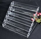 Mutiple Level Acryl Clear Nail Polish Holder Display Rack Container Organizer