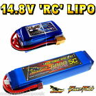 14.8V 1300 to 6000mAh 4S RC LiPo Battery up to 65C All Sizes + Custom Connector