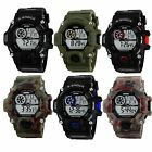Fashion Men's Lover Digital Date Alarm Waterproof LED Quartz  Wrist Watches