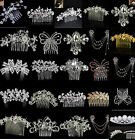 BRIDAL HAIR COMB WEDDING COMBS DIAMANTE CRYSTAL PEARL VINTAGE SLIDE CLIP TIARA A
