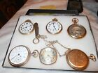 6 ANTIQUE RAILROAD GOLD FILLED POCKET WATCH NOT SCRAP  AND  POCKET KNI