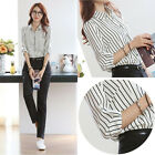 Fashion Women Casual Long Sleeve Loose Summer Chiffon T-shirt Tops Shirt Blouse