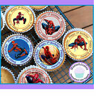 24 X SPIDERMAN 5TH BIRTHDAY EDIBLE CUPCAKE TOPPERS WAFER PAPER OR ICING