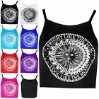 New Ladies Strechy Camisole Vest Womens Crop Top Cool Like the Moon Vest Strappy