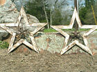 TWO Wood-Iron-Hand Painted Western Wall Stars 0843 0844
