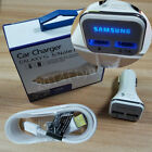 New Original LED Adaptive Fast Car Charger Dual USB For Samsung Galaxy S6 Note 4